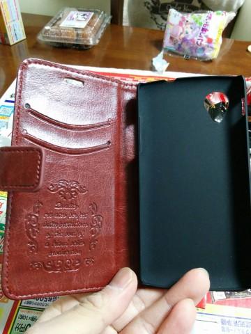 Nexus5手帳型ケース 装着前