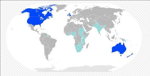 英語が公用語の国
