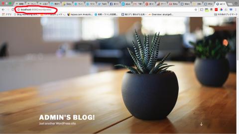 Bitnami ローカル環境 WordPress