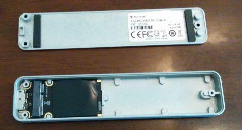 Mac Trancend SSD外付けケース