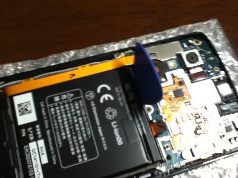 Nexus5 バッテリー取り外し