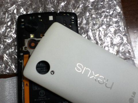 Nexus5 外蓋取り付け