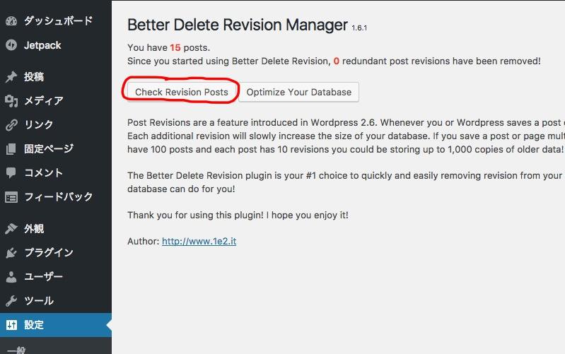 Better Delete Revision 使い方