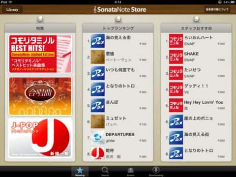 SonataNote 楽曲購入
