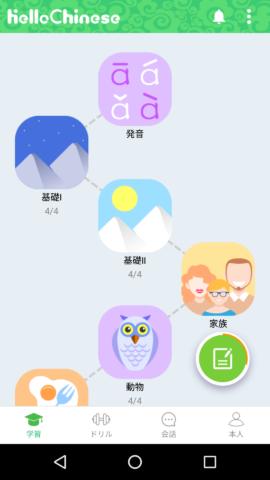 HelloChinese 学習の手順