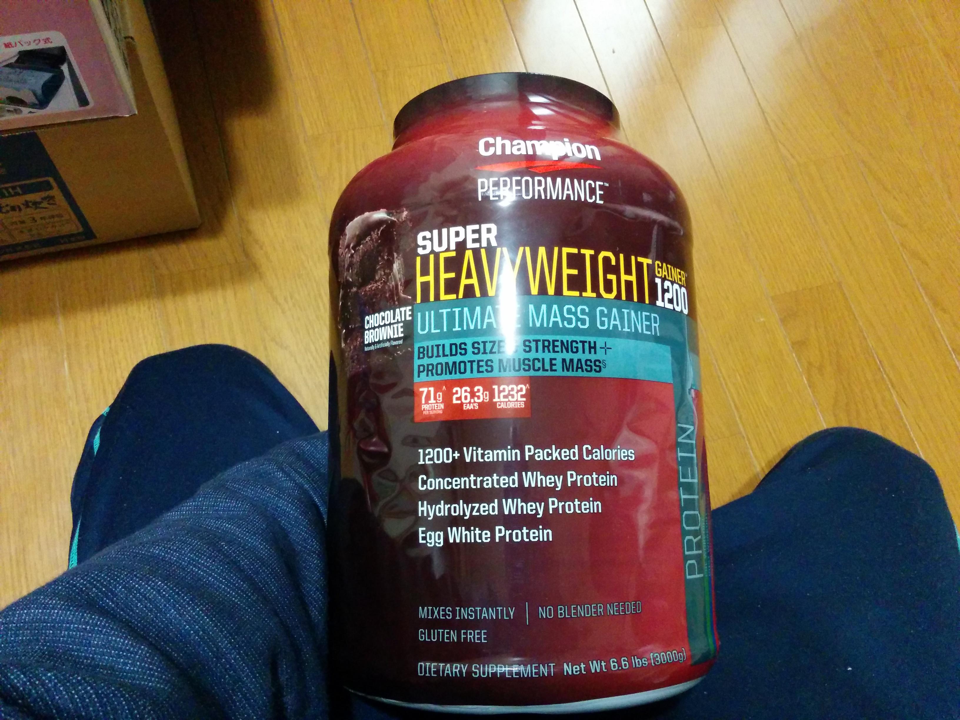 Super Heavy Weight Gainer 1200 3kg Chocolate Brownie 【海外直送品】