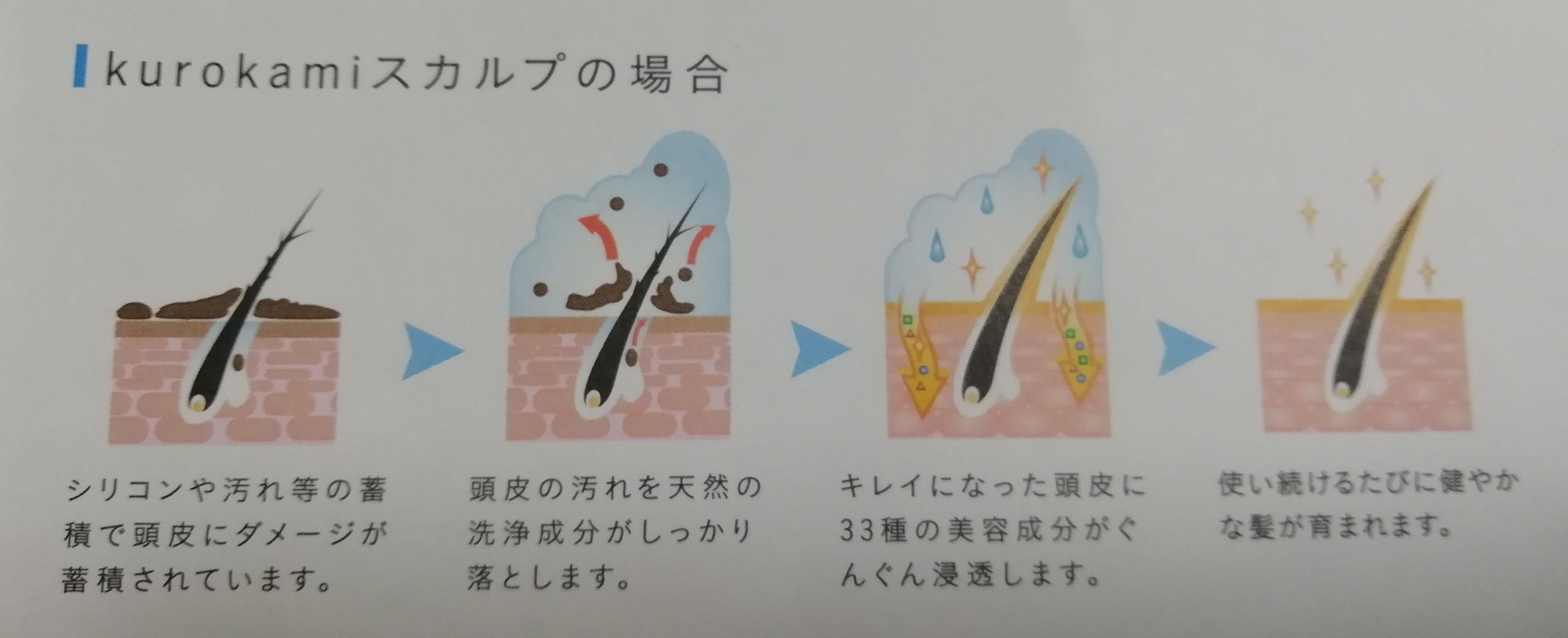 頭皮 kurokamiスカルプ
