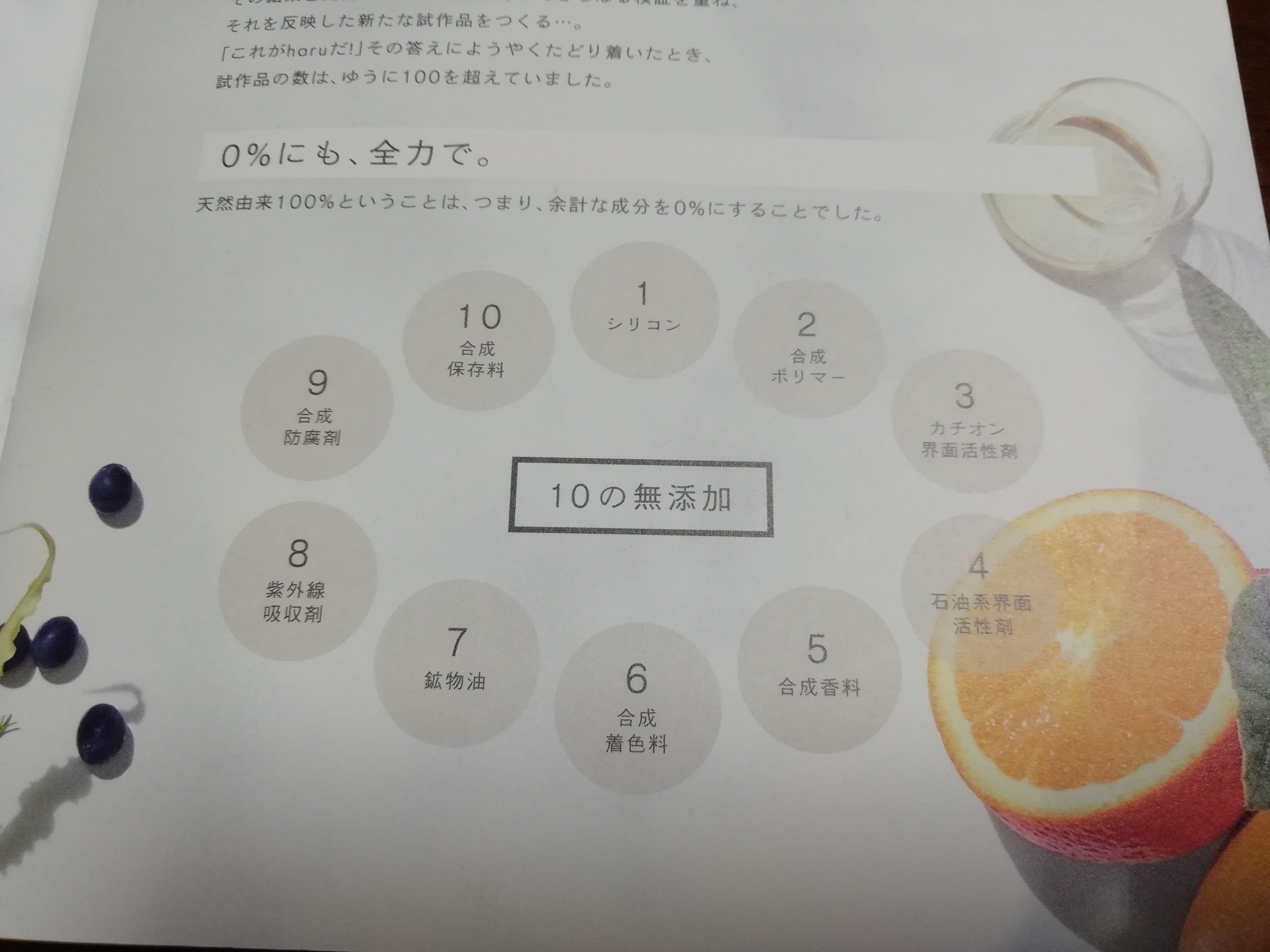 haru kurokamiスカルプ 10の無添加