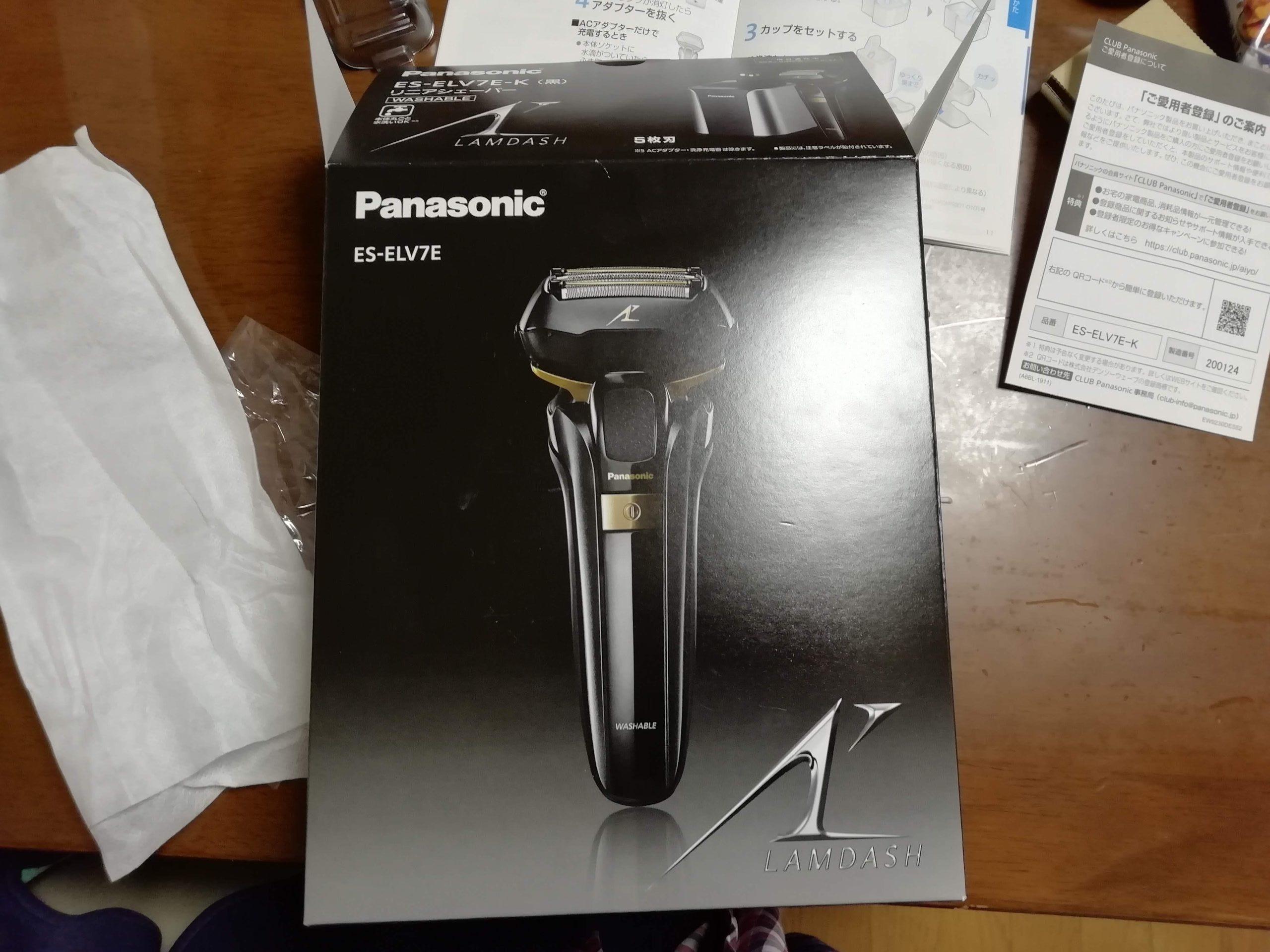 Panasonicの電気髭剃り「ES-ELV7E」