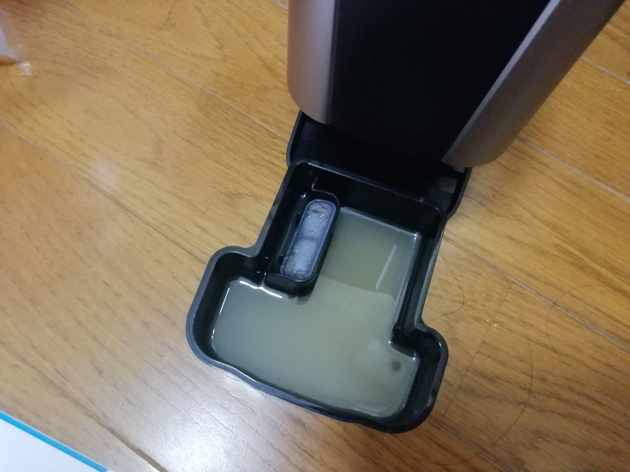 ES-ELV7Eの洗浄液を交換